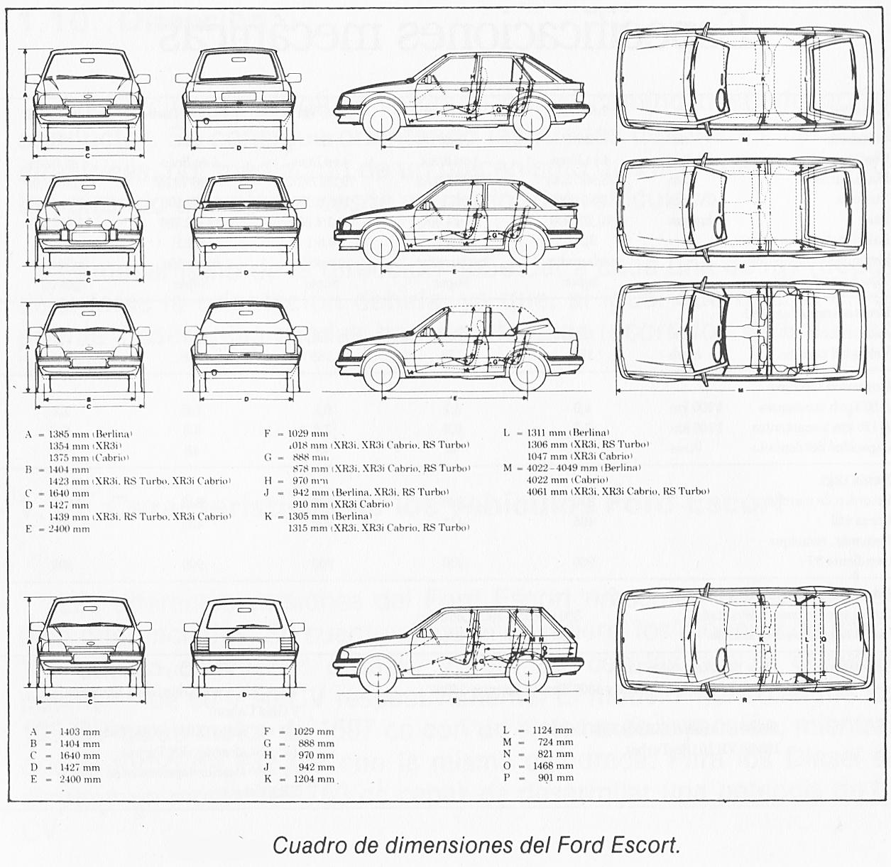 @Garrone: Medidas de carrocería Ford Escort MK3